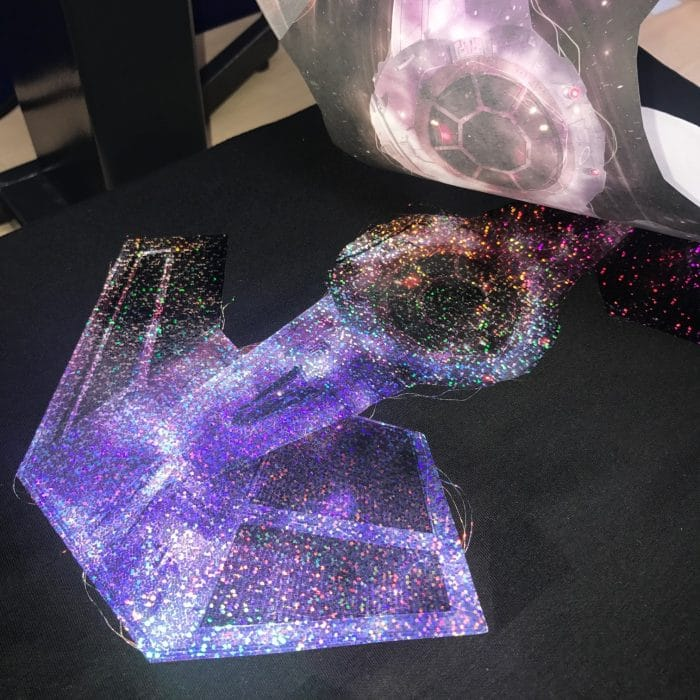 Sublimation Printed Holographic Silver DPH-01