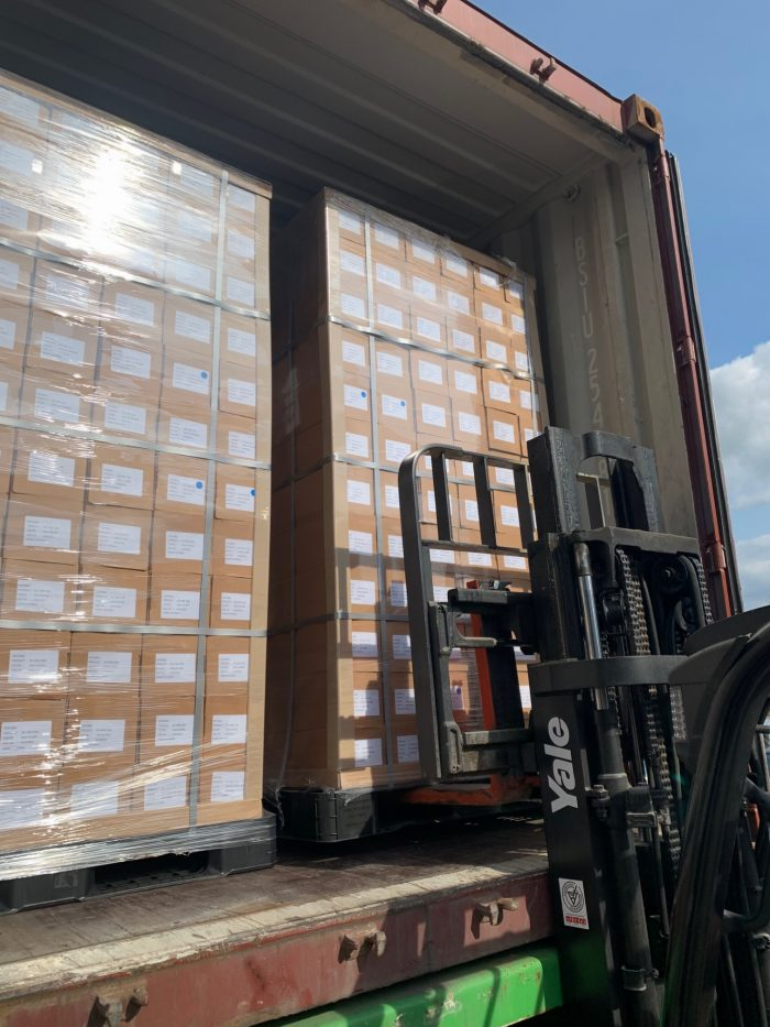 Containers Arrive From Korea